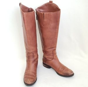 Sam Edelman Penny Boot Brown Leather Womens